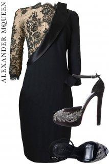 9号【レンタルドレスセット】Product code:01063-set | ALEXANDER McQUEEN Lace Dress 2011(アレキサンダー・マックイーン ドレス セット)