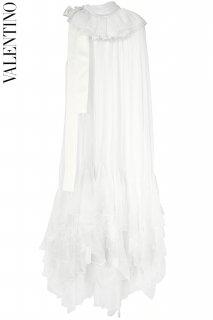 11号【レンタルドレス】PRD CODE:00128 | VALENTINO Ivory Ruffle Dress w/ Ivory Ribbon(ヴァレンティノ ドレス/ウェディングドレス)