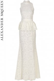 7号【レンタルドレス】PRD CODE:01103 | ALEXANDER McQUEEN Lace Peplum Gown(アレキサンダー・マックイーン ドレス/ウェディングドレス)