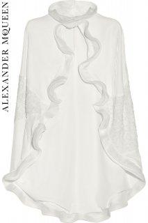 7号【レンタルドレス】PRD CODE:01105 | ALEXANDER McQUEEN Streamlined lace & Velvet Cape(アレキサンダー・マックイーン ケープ)