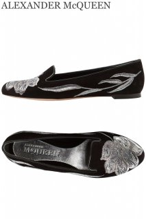 24.0cm【レンタルシューズ】Product code:01098 | ALEXANDER McQUEEN Embroidered Loafers(アレキサンダー・マックイーン シューズ)