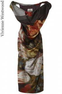 7-9号【レンタルドレス】Product code:11032 | Vivienne Westwood Pencil Dress Bosschaert Print(ヴィヴィアンウェストウッド ドレス)