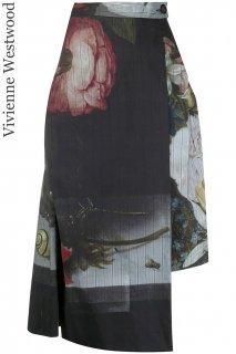 7-9号【レンタルドレス】Product code:11034 | Vivienne Westwood Wrap Skirt Bosschaert Print(ヴィヴィアンウェストウッド スカート)