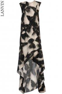 9-11号【レンタルドレス】Product code:17024 | LANVIN Butterfly-Print Silk Maxi Dress(ランバン ロングドレス)