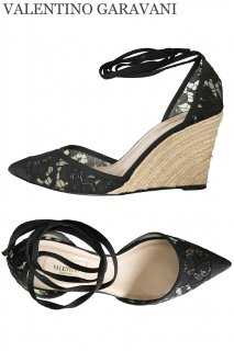 25.0cm【レンタルシューズ】Product code:00118   VALENTINO GARAVANI Mesh Lace Ankle Strap Shoes(ヴァレンティノ シューズ)