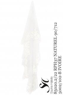 Φ150cm【レンタルウェディングベール】Product code:14005 | Sophie Hallette Corded Chantilly Lace Veil(レース&チュールベール)