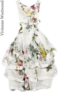 7-9号【レンタルドレス】Product code:11038 | Vivienne Westwood Runway Rose Print Tiered Dress(ヴィヴィアンウェストウッド)