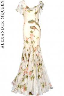 7号【レンタルドレス】Product code:01106 | ALEXANDER McQUEEN Bird of Paradise Silk Gown(アレキサンダー・マックイーン ドレス)