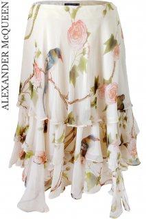 7号【レンタルドレス】Product code:01004 | ALEXANDER McQUEEN Bird of Paradise Silk Skirt(アレキサンダー・マックイーン スカート)