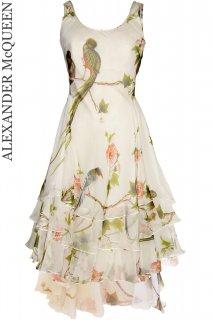 7号【レンタルドレス】Product code:01001 | ALEXANDER McQUEEN Bird of Paradise Silk Dress(アレキサンダー・マックイーン ドレス)