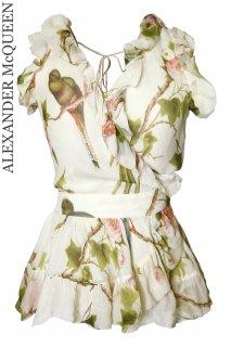 7-9号【レンタルドレス】Product code:01108 | ALEXANDER McQUEEN Bird of Paradise Silk Top(アレキサンダー・マックイーン トップ)