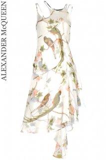7号【レンタルドレス】Product code:01002 | ALEXANDER McQUEEN Bird of Paradise Silk Dress(アレキサンダー・マックイーン ドレス)