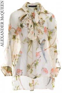 7号【レンタルドレス】Product code:01032 | ALEXANDER McQUEEN Bird of Paradise Silk Blouse(アレキサンダー・マックイーン トップ)