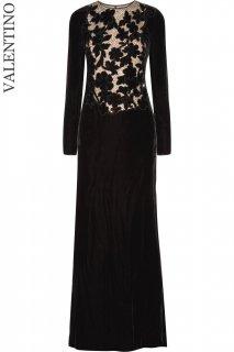 7号【レンタルドレス】Product code:00137 | VALENTINO Embellished Velvet Evening Gown(ヴァレンティノ イブニングドレス)