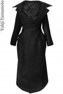 7-9号【レンタルコート】Product code:05009 | Yohji Yamamoto Black Wool Long Coat(ヨウジ・ヤマモト ウールロングコート)
