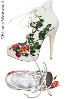 25.5cm【レンタルシューズ】Product code:11009 | Vivienne Westwood Scarlet Rose Print Shoes(ヴィヴィアン・ウエストウッド シューズ)