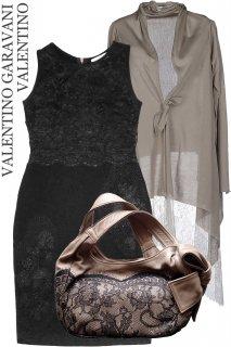 11-13号【レンタルドレスセット】Product code:00042-set | VALENTINO Lace & Wool Dress - set(ヴァレンティノ ドレス セット)
