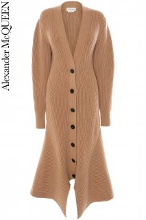 7号【レンタルドレス】PRD CODE:01113 | ALEXANDER McQUEEN Peplum-Hem Long Knit Jacket(アレキサンダー・マックイーン ニット ジャケット)