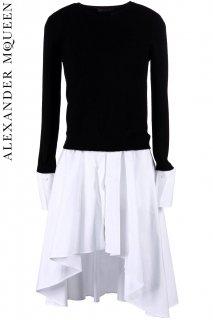 7号【レンタルドレス】PRD CODE:01114 | ALEXANDER McQUEEN Wool Crew Neck Sweater w/ Hem(アレキサンダー・マックイーン ニット)