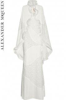 7号【レンタルドレス】PRD CODE:01046+01105 | ALEXANDER McQUEEN Velvet & Lace Gown w/ Cape(アレキサンダー・マックイーン ドレス)