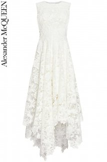 7号【レンタルドレス】PRD CODE:01123 | ALEXANDER McQUEEN Lace Long Dress(アレキサンダー・マックイーン ドレス/ウェディングドレス)