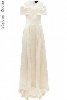 7号【レンタルドレス】PRD CODE:23001 | Simone Rocha Off-Shoulder Silk Satin Wedding Gown(シモーン・ロシャ ウェディングドレス)