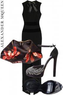 7号【レンタルドレスセット】PRD CODE:01079-set | ALEXANDER McQUEEN Embellished Black Gown - set(アレキサンダー・マックイーン)