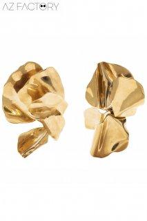 【レンタルアクセサリー】PRD CODE:25001 | AZ FACTORY Sculpted Poppy Gold-Tone Perced Earrings(AZファクトリー ピアス)