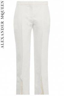 7号【レンタルドレス】PRD CODE:01126 | ALEXANDER McQUEEN Ivory Cropped Straight Leg Pants(アレキサンダー・マックイーン パンツ)
