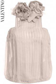 7号【レンタルドレス】PRD CODE:00048 | VALENTINO Classic Rose Pink Petal & Pleats Silk Top(ヴァレンティノ トップ)