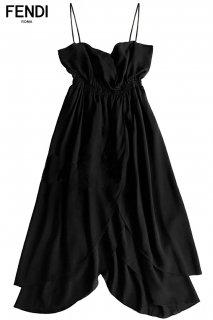 9号【レンタルドレス】PRD CODE:12001 | FENDI Petal Layered Skirt Silk Midi Length Dress(フェンディ ドレス)