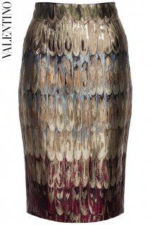 11号【レンタルドレス】PRD CODE:00140 | VALENTINO Angel Wings Jacquard Knee-Length Skirt(ヴァレンティノ スカート)