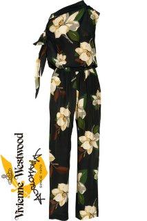 7号【レンタルドレス】PRD CODE:11040 | Vivienne Westwood Black Magnolia Print Junpsuit(ヴィヴィアン・ウエストウッド ドレス)