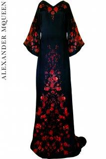 13号【レンタルドレス】PRD CODE:01124 | ALEXANDER McQUEEN (The Horn of Plenty) Floral Gown(アレキサンダー・マックイーン ドレス)