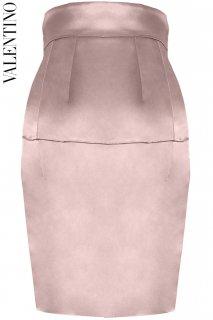 9号【レンタルドレス】PRD CODE:00049 | VALENTINO Classic Rose Pink Silk Tight Skirt(ヴァレンティノ スカート)
