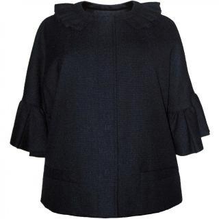 9号(7〜11号)■レンタルドレス■Product code:00022 | VALENTINO ROMA Dark navy ruffle jacket(ヴァレンティノローマ ジャケット)