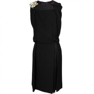 9号(7〜9号)■レンタルドレス■Product code:07002 | LOUIS VUITTON Button ornaments black dress(ヴィトン 装飾付 ブラックドレス)