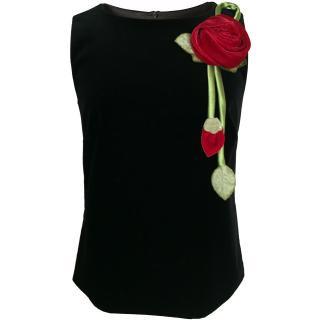 9号■レンタルドレス■Product code:00084 | RED VALENTINO 2014 Rose corsage top(レッド ヴァレンティノ ローズコサージュ付きトップス)