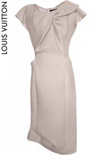 9号(7〜9号)■レンタルドレス■Product code:07019 | LOUIS VUITTON Sand beige wool dress(ルイヴィトン サンドベージュ色のウールドレス)