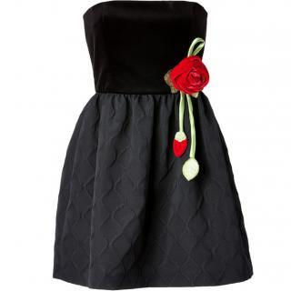 7号■レンタルドレス■Product code:00074 | RED VALENTINO Rose corsage Strapless Dress(レッド ヴァレンティノ ローズコサージュ付ドレス)