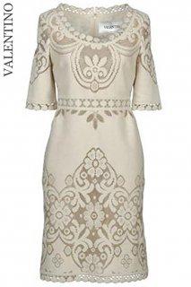 7号(5〜7号)【レンタルドレス】Product code:00055 | VALENTINO 2012 Runway Lace Dress(ヴァレンティノ 織りレースのドレス)