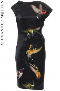 7号,7-11号【レンタルドレス】Product code:01011 | ALEXANDER McQUEEN Hummingbird dress(アレキサンダーマックイーン ハチドリ柄ドレス)