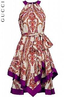 9号【レンタルドレス】Product code:02024 | GUCCI Floral print dress with ribbon belt(グッチ フローラルプリントベルト付ドレス)