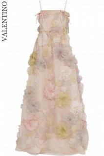 7号(5〜7号)【レンタルドレス】Product code:00068 | VALENTINO 2011 Silk-Flower Applique Gown(ヴァレンティノ 3Dフラワードレス)