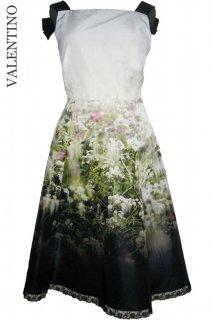7号(7〜9号)【レンタルドレス】Product code:00009 | VALENTINO Floral Garden Printed Silk Dress(ヴァレンティノ ドレス)