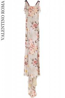 5〜7号【レンタルドレス】Product code:00008 | VALENTINO ROMA Floral Print Long Silk Chiffon Gown(ヴァレンティノ ドレス)