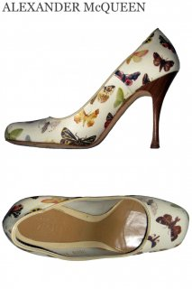 23.0,24.5cm【レンタルシューズ】Product code:01007 | ALEXANDER McQUEEN Butterfly Pumps(アレキサンダーマックイーン パンプス)
