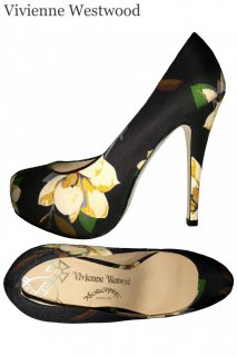 23.0cm■レンタルシューズ■Product code:11023 | Vivienne Westwood Magnolia print pumps(ヴィヴィアン パンプス)