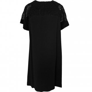 9号(7〜11号)■レンタルドレス■Product code:07012 | LOUIS VUITTON Sleeves of lace dress(ヴィトン レース袖ブラックドレス)