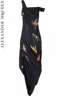7号【レンタルドレス】PRD CODE:01010 | ALEXANDER McQUEEN Hummingbird Printed Silk Gown(アレキサンダー・マックイーン ドレス)